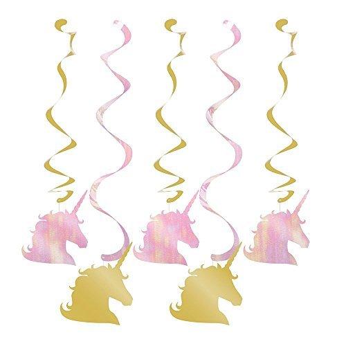 Creative Converting Unicorn Sparkle Hanging Swirls (15 Count)