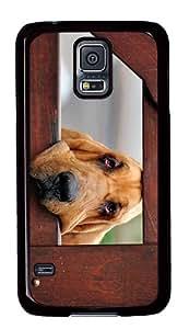 ICORER Vintage Samsung Galaxy S5 Case Dog Friend Bloodhound Case Cover for Samsung Galaxy S5 PC Black