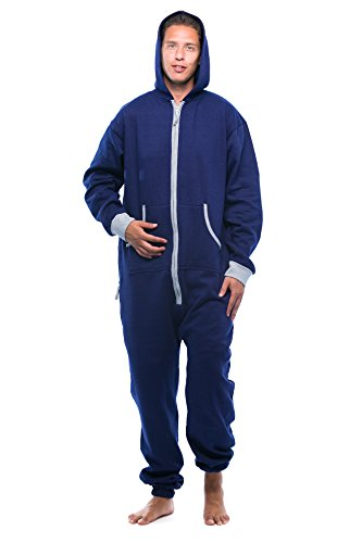#followme 6435-NVY-S Jumpsuit Adult Onesie Pajamas
