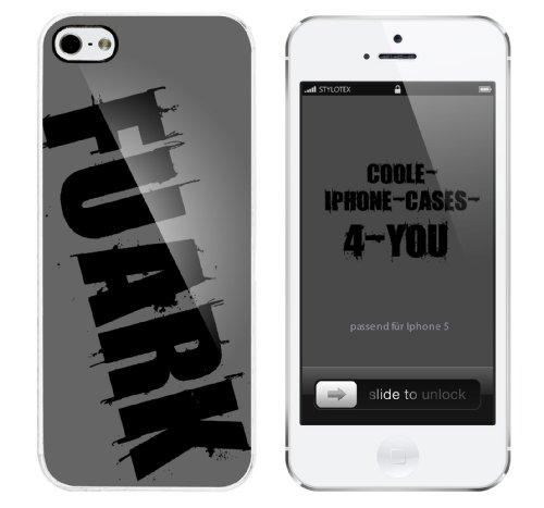 Iphone 5 Case Fuark Rahmen weiss