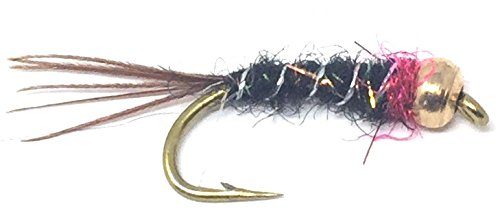 Feeder Creek Fly Fishing Trout Flies - Bead Head Frenchie Nymph - One Dozen Flies - 4 Size Assortment 12,14,16,18 (3 of Each Size)