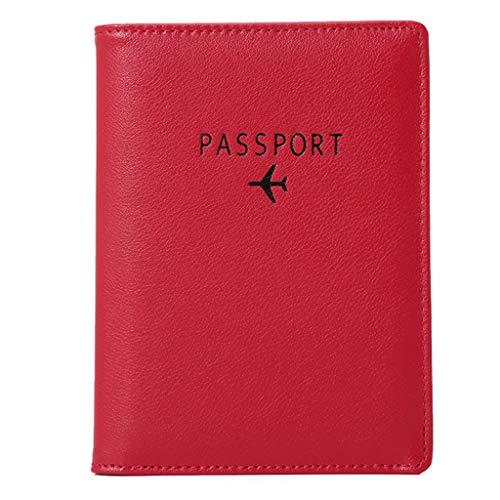 Yomiafy Unisex Travel Passport Wallet Multi-purpose Credit Card Document Organizer Holder