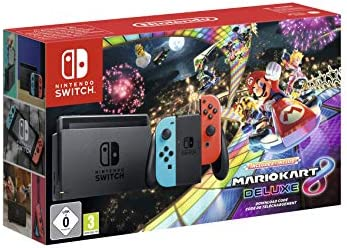 Nintendo Switch - Consola + Mario Kart 8 Deluxe Bundle (Código Descarga) - Edición limitada: Nintendo: Amazon.es: Videojuegos