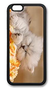 MOKSHOP Adorable Kitten Sleeping Soft Case Protective Shell Cell Phone Cover For Apple Iphone 6 Plus (5.5 Inch) - TPU Black