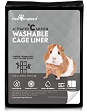 Paw Inspired Washable Guinea Pig Cage Liners | Bamboo Charcoal Odor Controlling | Super Absorbent Liners Pee Pads for Rabbits, Hamsters, and All Small Animals
