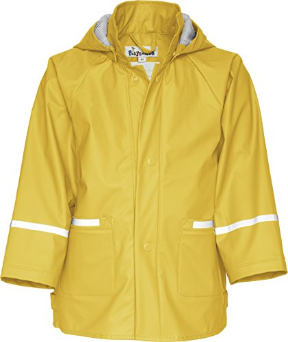 Playshoes Baby and Childrens Waterproof Rain Jacket, Unlined (Yellow, 140 (9-10 Yr)) (Yellow Polyester Raincoat)