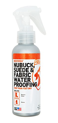 Gear Aid Revivex Suede Protector and Fabric Water Repellent for Shoes and Boots, 4 fl oz ()