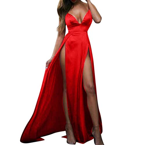 d7322d0854 Rojo Alta Clubwear Party Evening Vestidos Solid Dress Mujeres ❤ Women Split Maxi  Vestido Sexy De Absolute Largos waCqFxB5
