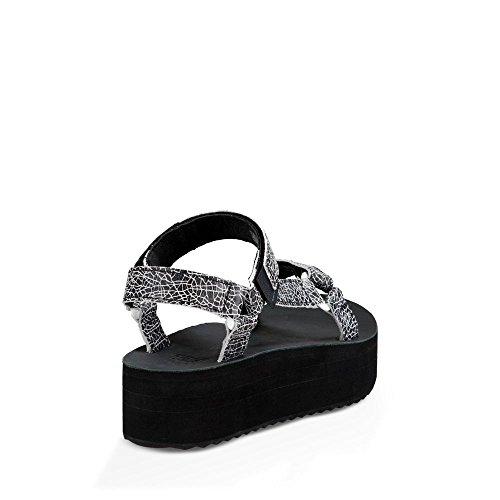 Teva W Flatform Universal Crackle donna, pelle liscia, sandali