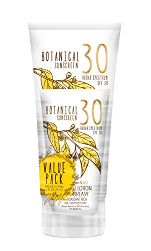 - Australian Gold Botanical Sunscreen Mineral Lotion w/Bonus 1oz Lotion, Broad Spectrum, Water Resistant, SPF 30, 5 Ounce