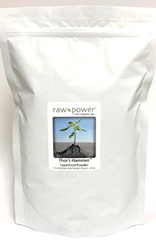 Thor's Hammer Superfood Powder (BULK KILO BAG, 1000g, pure chlorella / spirulina drink mix) (Chlorella Foods Powder Pure)
