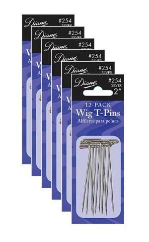 Diane Wig T-pins * 2, 72 pins, Easy to insert and Remove