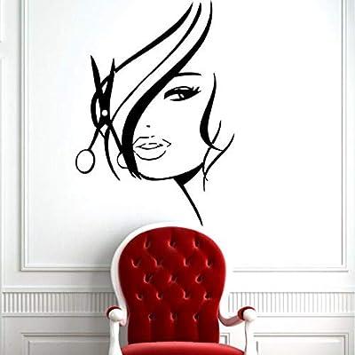 zxddzl Vinilo Etiqueta de la Pared Cabello Salón de Belleza ...