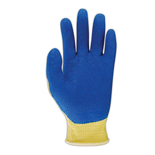 Showa Best KV300-M SHOWA Best Atlas KV300 Kevlar Glove with Latex Palm Coating, Blue , Medium (Pack of 12) by SHOWA (Image #1)