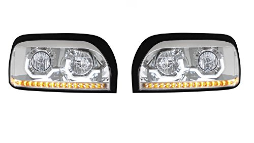 CPW-tm-1996-2009-Freightliner-Century-Chrome-Dual-Halo-LED-Headlights-New-Pair
