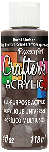 DecoArt Crafter's Acrylic Paint, 4-Ounce, Burnt Umber
