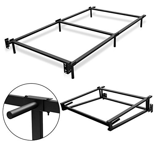 Giantex Black Folding Heavy Duty Metal Bed Frame Center Support Bedroom (Twin Size) by Giantex