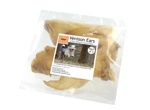 Burns Dog Treats Venison Ears 3 Pack