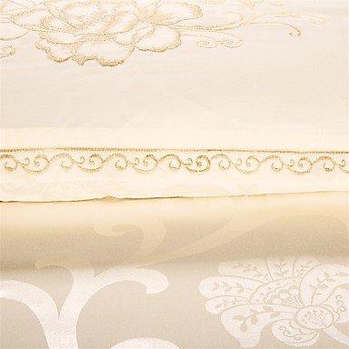 MEI Luxury Jacquard Silk Cotton Blend 4pcs Duvet Cover Bed Sheet Pillowcase Bed Linen by MEI (Image #5)