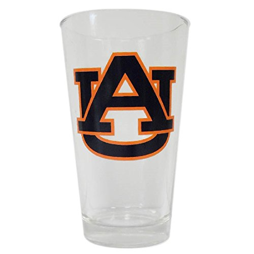 Auburn Tigers 16 Ounce Beverage Glass with Logo (Auburn Tigers Beverage)