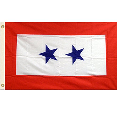 Blue 2 Star  3x5 Polyester Flag