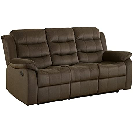 Coaster Home Furnishings 601881 Two Tone Rodman Motion Collection Motion Sofa Chocolate