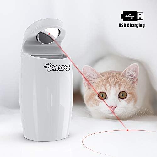 DADYPET Juguetes para Gatos Juguetes interactivos para Gatos y Perros rotación automática Irregular de Puntos Rojos, USB Recargable (Incluye Cable): Amazon.es: Productos para mascotas