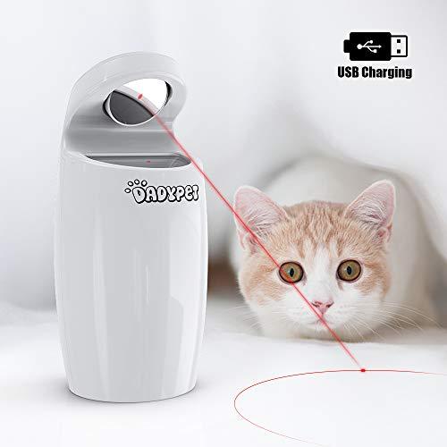 DADYPET Katzen Federspielzeug, Katzenspielzeug Elektrisch Katzenspielzeug Federstab Intelligenzspielzeug Katzenspiel Interaktives Spielzeug für Katzen, automatisch rotierend