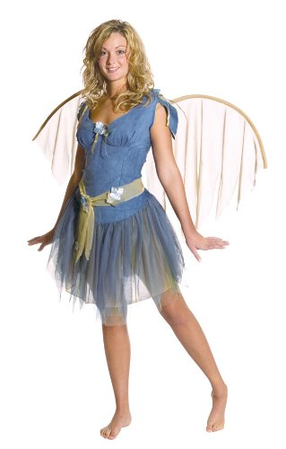 (Adult Blue Foliage Fairy Costume - Womens Medium)