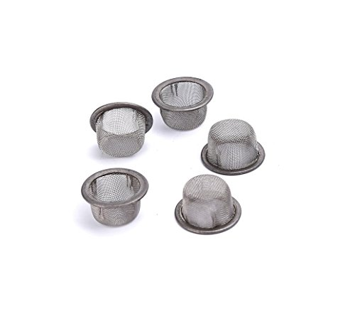 Xmifer 5pcs 0.5Inch Diameter Crystal Tobacco Pipe Stainless Steel Mental Screen Filters for Crystal Smoking Pipes Use (Silver)