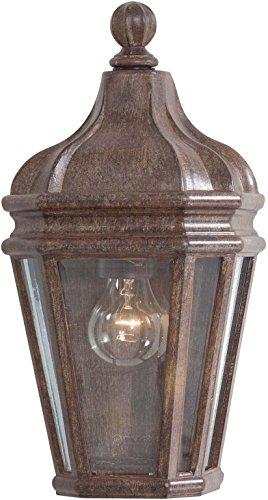 (Minka Lavery Outdoor Wall Light 8697-61 Harrison Aluminum Exterior Pocket Sconce Lantern, 100 Watts, Rust)