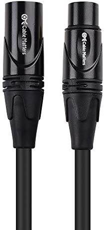 Cable Matters 2er-Pack Premium XLR Kabel Microphone 1,8m