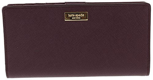 Kate Spade New York Laurel Way Stacy Saffiano Leather Wallet (Mulled Wine)
