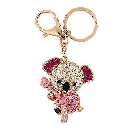 USATDD Lovely Koala Bear Animal Diamond Crystal Rhinestone Gold Crystal