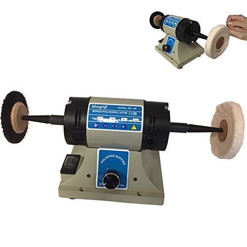 Jewelry Polishing Motot Compact Buffer Machine Lathe Benchtop Variable Speed