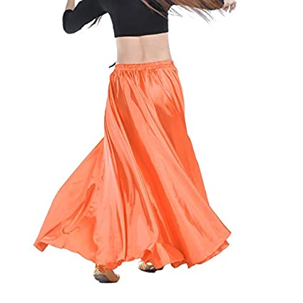 Parfaite pour la danse du ventre Pour danseuses professionnelles Jupe de danse orientale Calcifer en satin