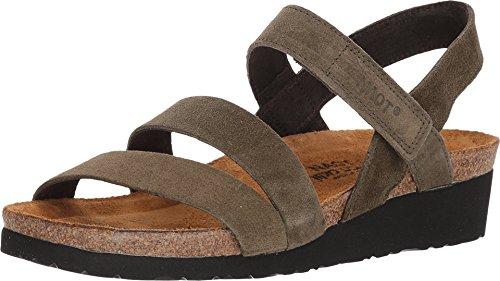 NAOT Footwear Women's Kayla Sandal Oily Olive Suede 5 M US