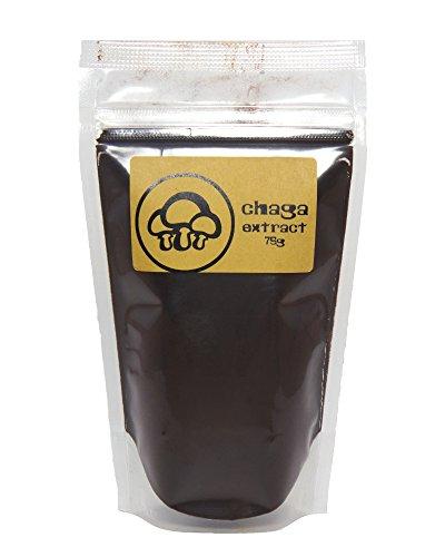 (Chaga Mushroom Extract Powder by Appropriated Cultures - Dual-Extract, Organic Chaga Extract Powder - 75g bulk powder)
