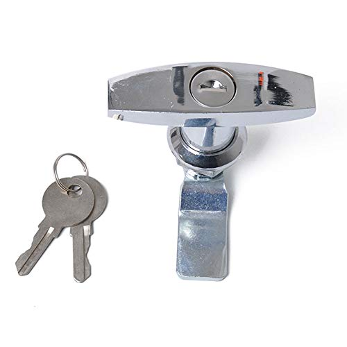 BEESCLOVER High Strength T Shape Handle Trailer Lock Caravan Canopy Toolbox Lock Silver A1595-02 by BEESCLOVER (Image #8)