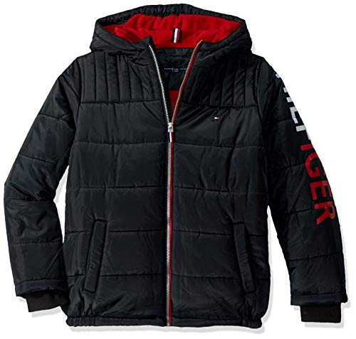 Tommy Hilfiger Boys' Big Mason Jacket, Black, X-Large (20) (Jacket For Boys Tommy Hilfiger)