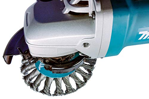 """Makita 1 Piece 4/"""" Heavy Knotted Twist Wire Wheel Brush For Grinders On Metal"""