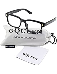 201584 Modern Fashion Rectangular Thick Frame Clear Lens...