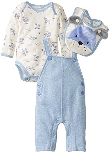 (Vitamins Baby Baby Boys' Newborn Plush Puppy 4 Piece Fleece Overall Set, Blue, 9 Months)