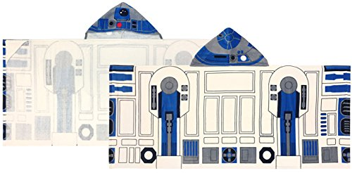 Jay Franco Classic Cotton Hooded Bath/Beach/Pool Towel, Star Wars R2D2