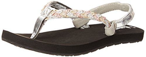 Reef Reef Little Twisted Stars Kids Sandal (ToddlerLittle KidBig Kid) SilverGold 1 2 M US Big Kid