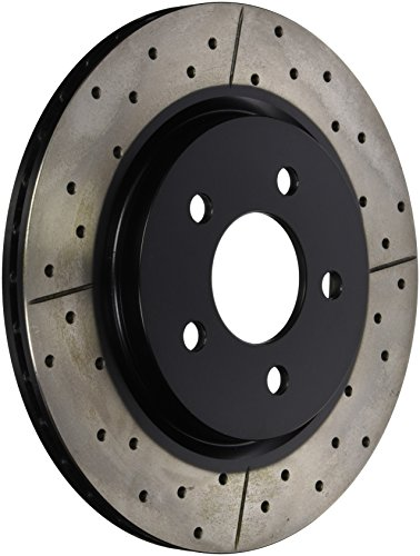 - DBA DBA2114BLKX Street Series Cross Drilled/Slotted Uni-Directional Rotor