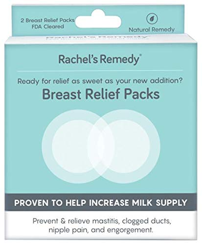Rachel's Remedy Breast Relief 2 Pack, Breastfeeding, Increase Milk Supply, Clogged Ducts, Mastitis, Nipple Pain, Engorgement