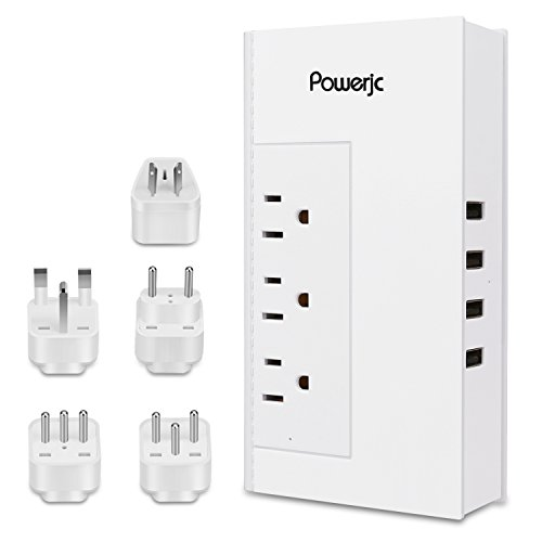 Voltage Converter Universal Power Adapter 1875W Step Down 220V to 100V with 4 Smart USB Charging Ports Inner Cooling Design without Any Noise-With (Universal Step)