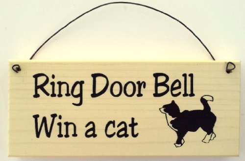 Funny Cat Sign Ring Doorbell product image