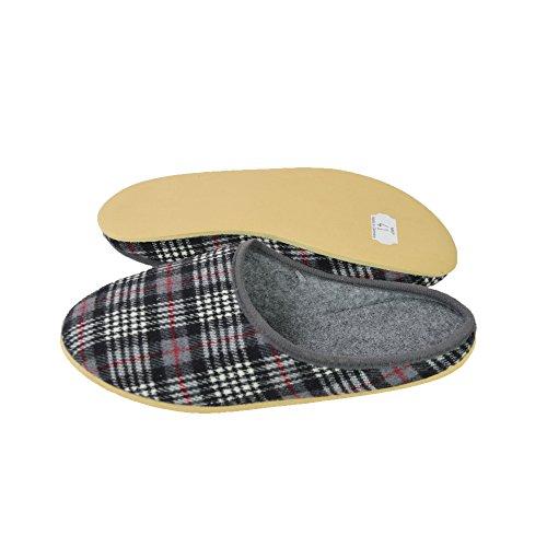 Unbekannt - Zapatillas de estar por casa de Fieltro para mujer Gris - gris